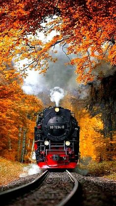 Locomotive in Autumn Photo Background Images Hd, Blur Background Photography, Studio Background Images, Nature Photography, Image Nature, Train Art, Old Trains, Train Pictures, Picsart Background
