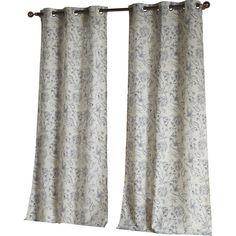 Floral Grommet Curtain Panel | Joss & Main $45