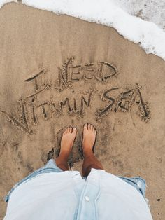 "goldfishkiss: "" I interrupted my beach walk for some sand lettering. Vitamin Sea. I need it's nutrients daily. """
