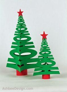 13-paper Christmas trees-HOHoHo
