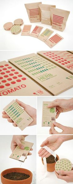 Cute minimalist packaging for these seed packets! #minimalism