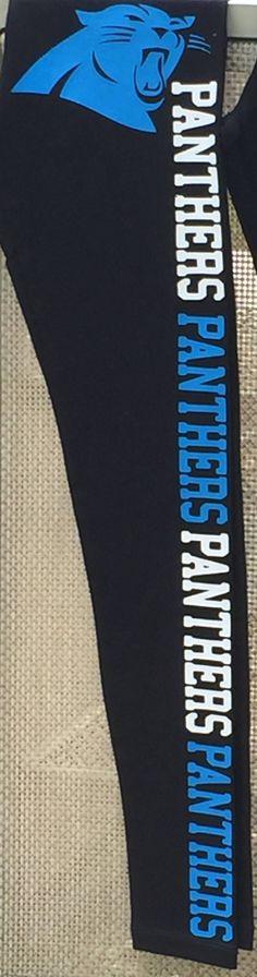 SALE NFL Carolina Panthers football womans leggings by CraftsCreativeStudio on Etsy