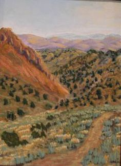 6 mile Canyon - plein air - my second pastel! Won an award at the Nevada Art Association Nevada Day Show