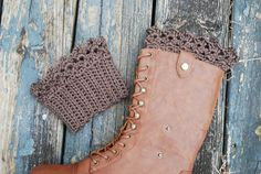 lace boot cuffs ~ free patterns