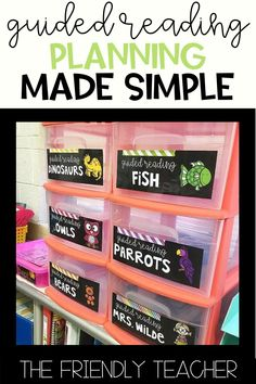 Make Guided Reading Planning SIMPLE - The Friendly Teacher