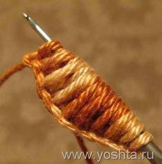 Tunisian Crochet Leaf Tutorial - great photos.