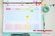 Menu Planning Printable -  A Bowl Full of Lemons