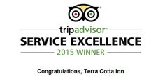 TripAdvisor is pleased to recognize Terra Cotta Inn for Service Excellence. This honor is based on reviews and opinions of millions of travelers who consistently gave your hotel top ratings in service in 2015.