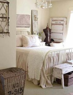Shabby chic bedroom by kara easly