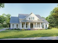 Modern Farmhouse Plan: 2,390 Square Feet, 4 Bedrooms, 3 Bathrooms - 041-00216 Southern Living House Plans, Country House Plans, New House Plans, Dream House Plans, Simple Farmhouse Plans, Farmhouse Floor Plans, Southern Farmhouse, Southern Homes, Country Homes