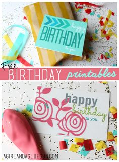 happy birthday to you. you look like a monkey and you smell like one too.(free printables) - A girl and a glue gun