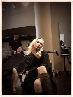 @Amanda Snelson Snelson Cutner-Fata Morgana: Even Painted Dolls get their hair did... Need @darren_bousman 2 recognize his creation... PS check out guy behind... (Courtesy of EA's Twitter feed)