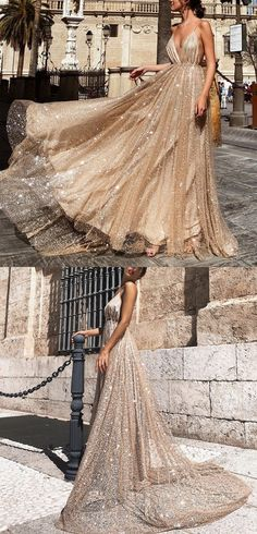Sexy Backless Prom Dresses,Spaghetti Straps Prom Dresses,Prom Dresses with Sequins, Champagne Evening Dresses Straps Prom Dresses, Gold Prom Dresses, Best Prom Dresses, Backless Prom Dresses, Tulle Prom Dress, Trendy Dresses, Ball Dresses, Homecoming Dresses, Evening Dresses