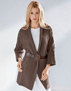 Кардиган шоколадного цвета, вязаный спицами. Обсуждение на LiveInternet - Российский Сервис Онлайн-Дневников Knitwear, Knitting, Crochet, Casual, Sweaters, How To Wear, Dresses, Clothing, Ideas