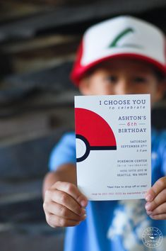 Worth every second planning my sons Pokemon party. Invitations sold here: http://www.brendabirddesigns.com/product/i-choose-you-pocket-monster-birthday-invitation/