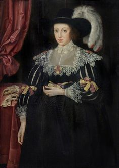 Marcus Gheeraerts the Younger - Portrait of Anne Fanshawe wife of Thomas Viscount Fanshawe, Valence House Museum, LDVAL 11