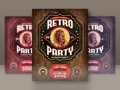 Retro Party Flyer Template by CruzineDesign