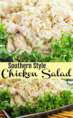 Southern Style Chicken Salad - Chicken salad is a staple in my fridge year round. It& usually nestled right beside the pimento cheese. It& perfect for light meals and between meal snacking for my boys to hold them over until dinner is ready. Salad Chicken, Pasta Salad, Simple Chicken Salad, Paula Deen Chicken Salad, Low Calorie Chicken Salad, Whole30 Chicken Salad, Pimento Cheese, Deserts, Southern Style