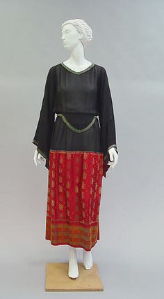 Dress (image 2) | House of Poiret | French | 1922 | silk, metallic thread | Metropolitan Museum of Art | Accession Number: 1979.428