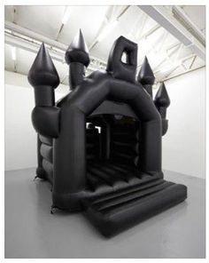 A Goth bouncy castle.