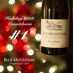 Blue Mountain Vineyard & Cellars Holiday 2013 Advent Countdown....1 Blue Mountain, Pinot Noir, Advent, Vineyard, Cocktails, Wine, Bottle, Holiday, Craft Cocktails