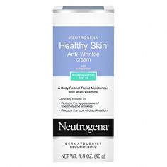 Neutrogena Healthy Skin Anti-Wrinkle Cream Night With Retinol, Oz. Anti Aging Cream, Anti Aging Skin Care, Drugstore Skincare, Skin Care Remedies, Prevent Wrinkles, Anti Wrinkle, Wrinkle Creams, Neutrogena, Skin Cream