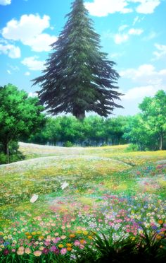Episode 1 features a double length run time. Anime Fantasy, Fantasy World, Fantasy Art, Arte Online, Online Art, Sword Art Online Wallpaper, Sword Art Online Kirito, Nature Artwork, Anime Scenery