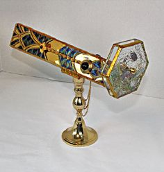 Stained Glass Kaleidoscope - Art Deco Style - Ertes Cheetah. $350.00, via Etsy.