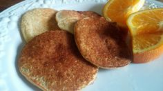 Gluten Free, Sugar Free Banana Oatmeal Pancakes!  Simple, fast and easy.