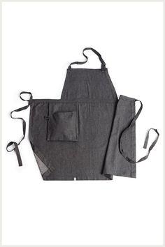 Designer Bib Apron - Hanging Pocket