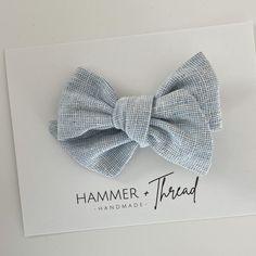 Mist Linen Pinwheel Hair Bow – Hammer & Thread Fabric Hair Bows, Handmade Hair Bows, Heart Hair, Diy Bow, Baby Bows, Pinwheels, True Colors, Mists, Headbands
