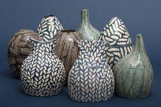 Handmade ceramics by Kata Bartis Hand Built Pottery, Handmade Pottery, Aqua, Ceramics, Instagram, Pattern, Color, Atelier, Colour
