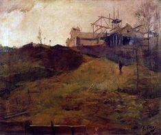 Ramon Casas i Carbó (1866-1932, Barcelona): Paisaje nublado