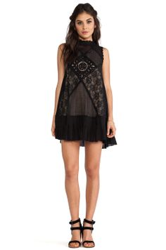 Free People Angel Lace Dress in Black