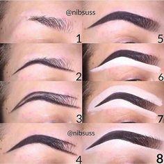 Make Up; Make Up Looks; Make Up Augen; Make Up Prom;Make Up Face; Makeup Steps Source by Eyebrow Makeup Tips, Beauty Makeup Tips, Contour Makeup, Eye Makeup Tips, Skin Makeup, Eyeshadow Makeup, Makeup Steps, Eyebrow Pencil, Lip Contouring