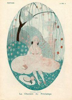 Gerda Wegener 1916 ''La chanson du printemps'' Little Girl