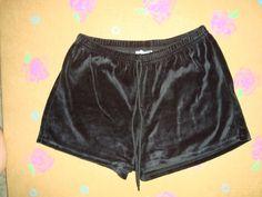 Rave Black Velour Shorts Size L