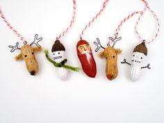 Peanut Craft Christmas Ornaments