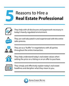 Reasons to hire a real estate professional.