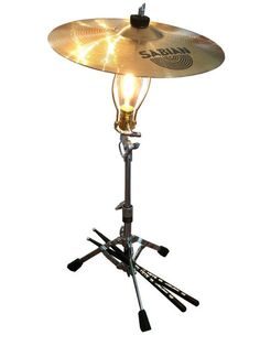 Items similar to Drummer& Lamp - Steve Gadd owns one and loves it! Cymbal - Drum Key On-Off Switch - Gift for Drummer - Funky - Steve Gadd Drumsticks Incl. on Etsy Drummer Gifts, Gifts For Drummers, Steve Gadd, Drums Artwork, Music Furniture, Drum Key, Drum Room, Creation Deco, Cool Lamps