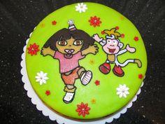 Dora en Boots taart