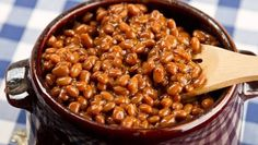 Baked Beans from Gettty Images, Bob Ingelhart photo. The Best Foods to Eat for GERD Patients Crock Pot Recipes, Baked Bean Recipes, Crockpot Dishes, Cooking Recipes, Bean Diet, Healthy Dinner Recipes, Vegetarian Recipes, Bbq Beans, Canadian Food