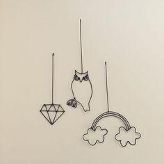 【ワイヤークラフト/パーツ】 ・ダイヤ ・フクロウ ・虹 #ワイヤークラフト #パーツ #フクロウ #虹