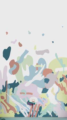 Bts Wallpaper Desktop, Aesthetic Desktop Wallpaper, Cute Pastel Wallpaper, Summer Wallpaper, Cute Simple Wallpapers, Bts Tattoos, Bts Mv, Bts Backgrounds, Bts Drawings