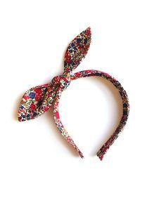 woodstock — tie headband - red emma flower