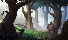 Layout - Forest Color Key by *AlexanderHenderson on deviantART