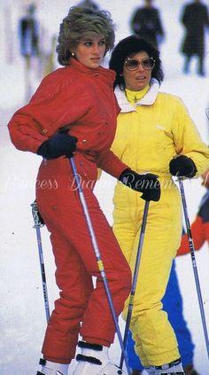 January 24, 1985: Princess Diana on skiing holiday in Malbun, Liechenstein.