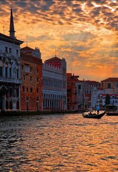Sunset over the Grand Canal, Venice, Italy