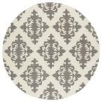 Evolution Grey 11 ft. 9 in. x 11 ft. 9 in. Round Area Rug