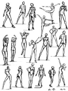 DeviantArt: More Like Figure drawing studies - poses by Female Action Poses, Tattoo Coloring Book, Figure Drawing Reference, Animation Reference, Pose Reference, Sketching Tips, Drawing Studies, Anatomy Drawing, Drawing Poses